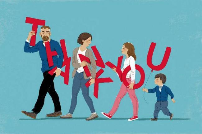 要培养孩子感恩,就需要父母以身作则